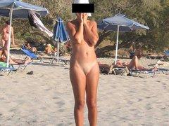 Nude Amateurs On A Beach Portraits