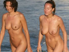 Nude Female Couples At Nude Beach
