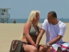 Chubby Blonde Fingered On Public Beach